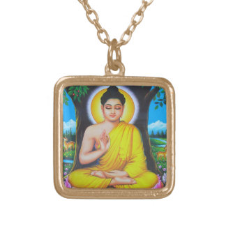 Buddha Gold Plated Necklace