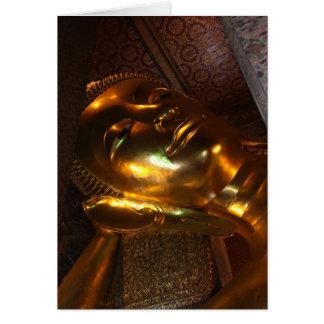 Buddha Gold Statue Face Card