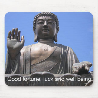 Buddha - Good fortune, luck and wellbeing Mouse Pad