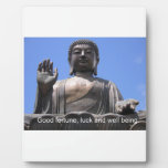 Buddha - Good fortune, luck and wellbeing Plaques