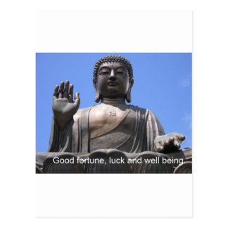 Buddha - Good fortune, luck and wellbeing Postcard