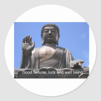 Buddha - Good fortune, luck and wellbeing Stickers