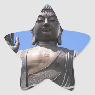 Buddha - Good fortune, luck and wellbeing Star Sticker