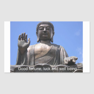 Buddha - Good fortune, luck and wellbeing Rectangular Stickers