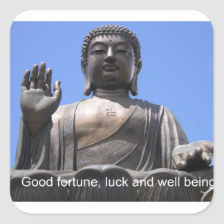 Buddha - Good fortune, luck and wellbeing Sticker