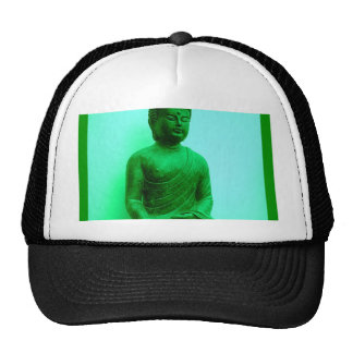 Buddha Green Bronze Statue by Sharles Trucker Hat