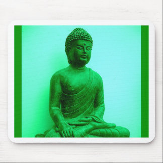 Buddha Green Bronze Statue by Sharles Mouse Pad