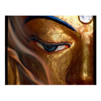 BUDDHA HALF EYE POSTCARD