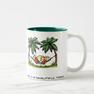 Buddha Hammock Two-Tone Coffee Mug