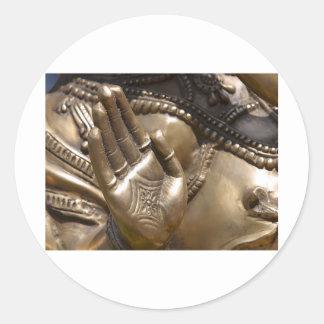 Buddha Hand ~ Thai Temple Photograph Round Stickers