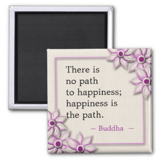 Buddha Happiness Quote 2 Inch Square Magnet