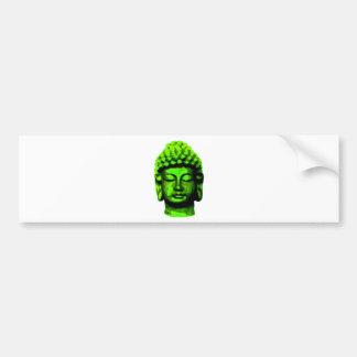 Buddha head bumper sticker
