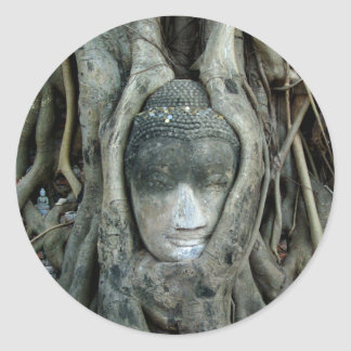 Buddha Head Classic Round Sticker