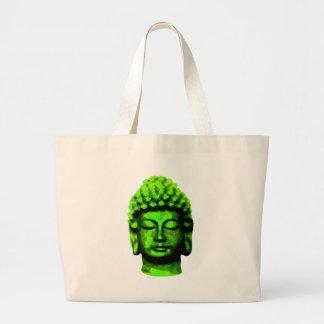 Buddha head large tote bag