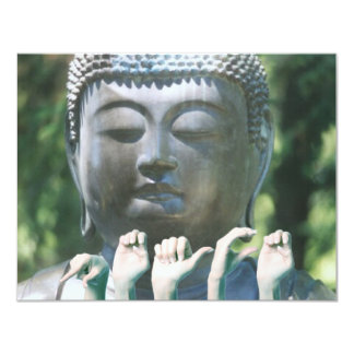 Buddha head & Peace ASL Card