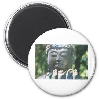 Buddha head & Peace ASL Magnet