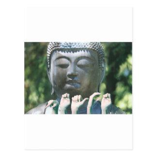 Buddha head & Peace ASL Postcards