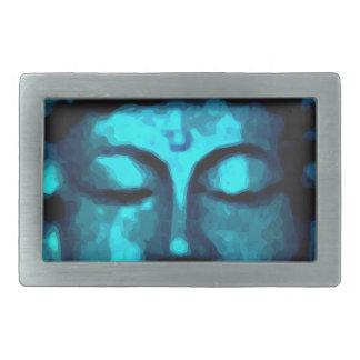 Buddha head rectangular belt buckle
