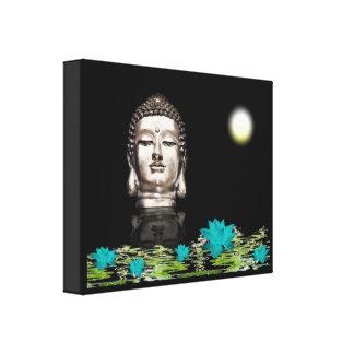 Buddha Head Statue Canvas Print