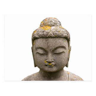 Buddha Head Statue (discolored and ancient) Postcard