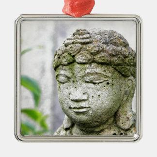 Buddha head statue metal ornament