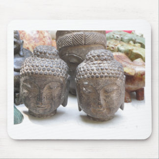 Buddha Heads Mousepads