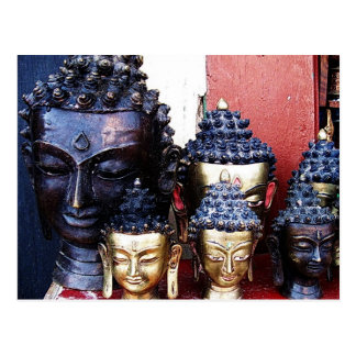 Buddha Heads Postcard