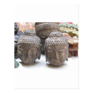 Buddha Heads Postcards