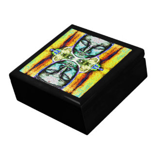 """Buddha Heads"" Psychedelic Art Stash Box"