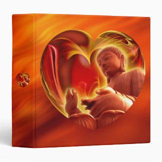 BUDDHA Heart | fire red Binder