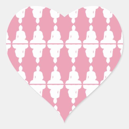 Buddha Heart Heart Sticker