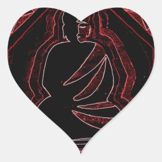 Buddha Heart Sticker