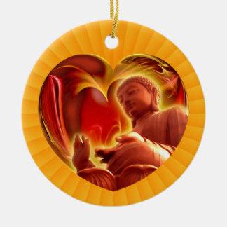 BUDDHA Heart | yellow radial Ceramic Ornament
