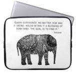Buddha Henna Elephant Wisdom Laptop Sleeve