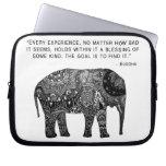 buddha, henna, elephant, wisdom, laptop, sleeve,