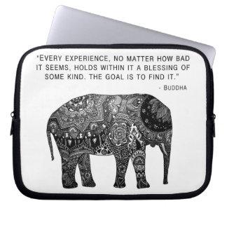 Buddha Henna Elephant Wisdom Laptop Sleeve 10 Inch