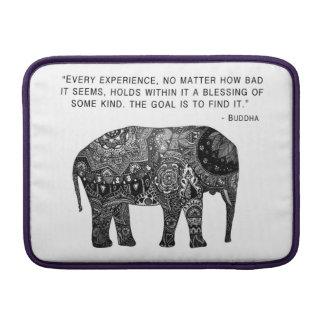Buddha Henna Elephant Wisdom Pattern India Laptop MacBook Air Sleeve