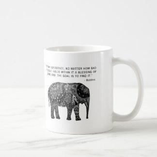 Buddha Henna Wisdom Elephant Classic White Coffee Mug