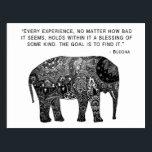 "Buddha Henna Wisdom Elephant Postcard<br><div class=""desc"">Buddha Henna Elephant Wisdom</div>"