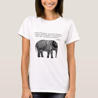 Buddha Henna Wisdom Elephant T-Shirt