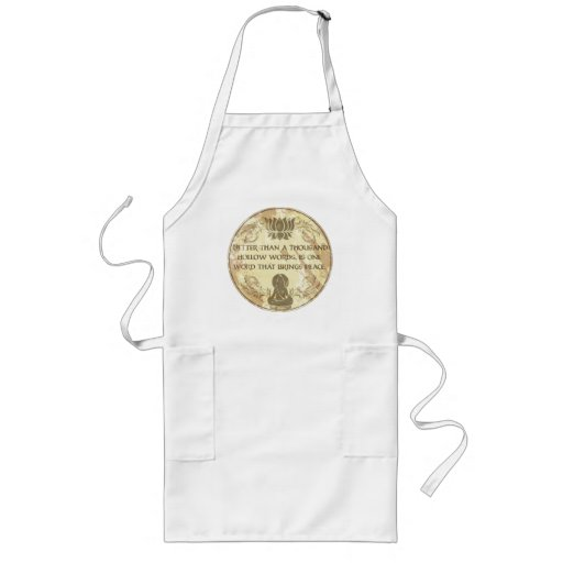 Buddha Hollow Words Aprons