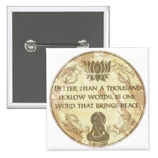 Buddha Hollow Words Pinback Button