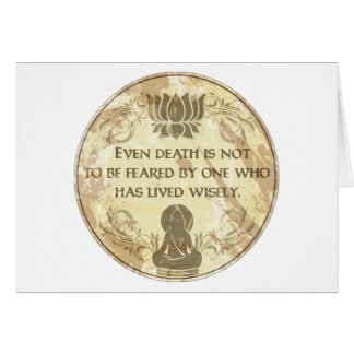 Buddha Hollow Words Greeting Cards