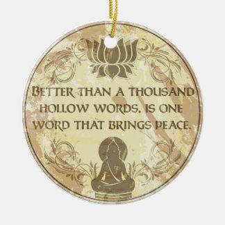 Buddha Hollow Words Ceramic Ornament