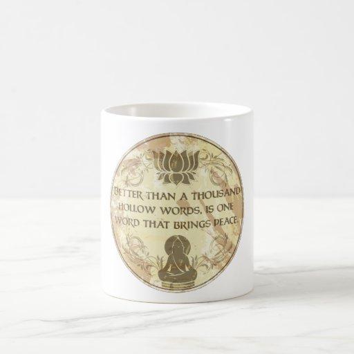 Buddha Hollow Words Coffee Mugs