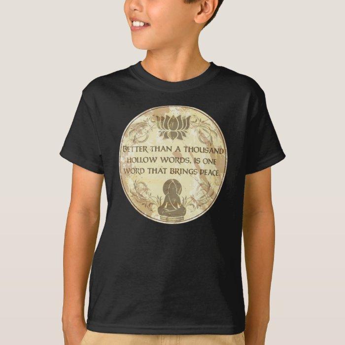 Buddha Hollow Words T-Shirt