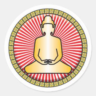 Buddha Icon Round Stickers