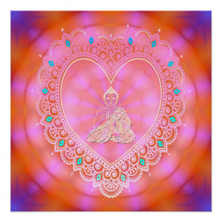 Buddha Icon (Uplifting & Energetic) Poster
