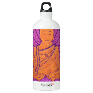Buddha Illuminated Aluminum Water Bottle