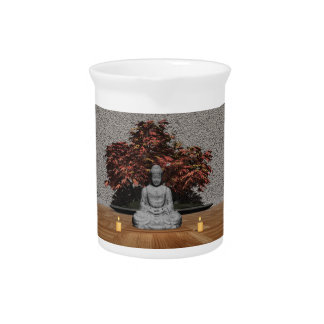 Buddha in a room - 3D render Pitcher